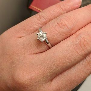 Diamond Engagement Love Ring 1.15 Ct